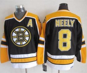 Wholesale Cheap Bruins #8 Cam Neely Black CCM Throwback New Stitched NHL Jersey
