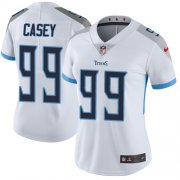 Wholesale Cheap Nike Titans #99 Jurrell Casey White Women's Stitched NFL Vapor Untouchable Limited Jersey