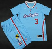Wholesale Cheap Los Angeles Clippers #3 Chris Paul Blue Revolution 30 Swingman NBA Jerseys Short Suits 2013 New Style