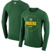 Wholesale Cheap Green Bay Packers Nike Property Of Sideline Performance Long Sleeve T-Shirt Green