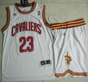 Wholesale Cheap Cleveland Cavaliers #23 LeBron James White Revolution 30 Swingman Jersey Short Suits