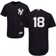 Wholesale Cheap Yankees #18 Johnny Damon Navy Blue Flexbase Authentic Collection Stitched MLB Jersey
