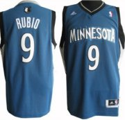 Wholesale Cheap Minnesota Timberwolves #9 Ricky Rubio Revolution 30 Swingman Blue Jersey