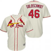 Wholesale Cheap Cardinals #46 Paul Goldschmidt Cream Cool Base Stitched Youth MLB Jersey