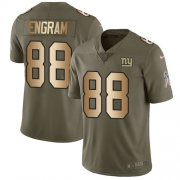 Wholesale Cheap Nike Giants #88 Evan Engram Olive/Gold Youth Stitched NFL Limited 2017 Salute to Service Jersey