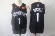 Wholesale Cheap Brooklyn Nets 1 D'Angelo Russell Black Nike Swingman Jersey