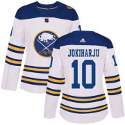 Wholesale Adidas Sabres #9 Jack Eichel White Road Authentic Women's Stitched NHL Jersey