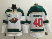 Wholesale Cheap Wild #40 Devan Dubnyk White Sawyer Hooded Sweatshirt Stitched NHL Jersey