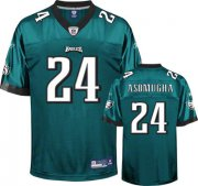 Wholesale Cheap Eagles #24 Nnamdi Asomugha Green Stitched NFL Jersey