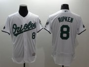 Wholesale Cheap Orioles #8 Cal Ripken White Celtic Flexbase Authentic Collection Stitched MLB Jersey