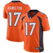 Wholesale Cheap Nike Broncos #17 DaeSean Hamilton Orange Team Color Men's Stitched NFL Vapor Untouchable Limited Jersey