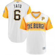 "Wholesale Cheap Pirates #6 Starling Marte White ""Tato"" 2019 Little League Classic Stitched MLB Jersey"