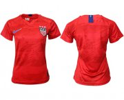 Wholesale Cheap Women's USA Blank Away Soccer Country Jersey