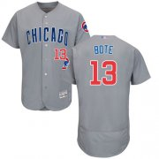 Wholesale Cheap Cubs #13 David Bote Grey Flexbase Authentic Collection Road Stitched MLB Jersey