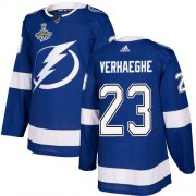 Cheap Adidas Lightning #23 Carter Verhaeghe Blue Home Authentic 2020 Stanley Cup Champions Stitched NHL Jersey
