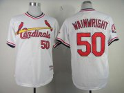 Wholesale Cheap Cardinals #50 Adam Wainwright White 1982 Turn Back The Clock Stitched MLB Jersey