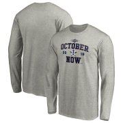 Wholesale Cheap Houston Astros Majestic 2019 Postseason ACE Long Sleeve T-Shirt Heather Gray