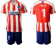 Wholesale Cheap Atletico Madrid #1 Moya Home Soccer Club Jersey