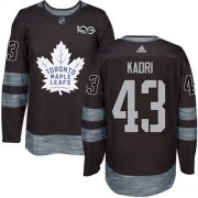 Wholesale Cheap Adidas Maple Leafs #43 Nazem Kadri Black 1917-2017 100th Anniversary Stitched NHL Jersey