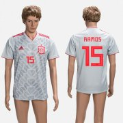 Wholesale Cheap Spain #15 Ramos Grey Training Soccer Country Jersey