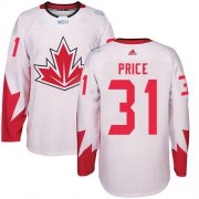 Wholesale Cheap Team Canada #31 Carey Price White 2016 World Cup Stitched Youth NHL Jersey