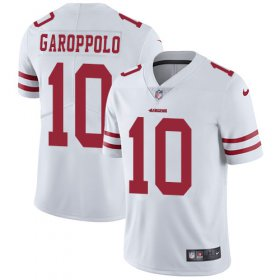 Wholesale Cheap Nike 49ers #10 Jimmy Garoppolo White Men\'s Stitched NFL Vapor Untouchable Limited Jersey