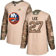 Wholesale Cheap Adidas Islanders #27 Anders Lee Camo Authentic 2017 Veterans Day Stitched Youth NHL Jersey