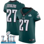Wholesale Cheap Nike Eagles #27 Malcolm Jenkins Midnight Green Team Color Super Bowl LII Men's Stitched NFL Vapor Untouchable Elite Jersey