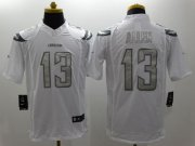 Wholesale Cheap Nike Chargers #13 Keenan Allen White Men's Stitched NFL Limited Platinum Jersey