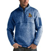 Wholesale Cheap Ottawa Senators Antigua Fortune Quarter-Zip Pullover Jacket Blue