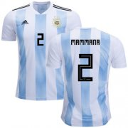 Wholesale Cheap Argentina #2 Mammana Home Soccer Country Jersey