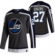 Wholesale Cheap Winnipeg Jets #27 Nikolaj Ehlers Black Men's Adidas 2020-21 Reverse Retro Alternate NHL Jersey