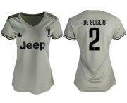 Wholesale Cheap Women's Juventus #2 De Sciglio Away Soccer Club Jersey
