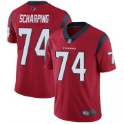 Wholesale Cheap Nike Texans #74 Max Scharping Red Alternate Men's Stitched NFL Vapor Untouchable Limited Jersey