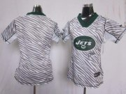 Wholesale Cheap Nike Jets Blank Zebra Women's Stitched NFL Elite Jersey