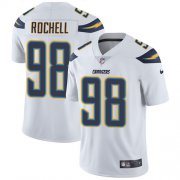 Wholesale Cheap Nike Chargers #98 Isaac Rochell White Men's Stitched NFL Vapor Untouchable Limited Jersey