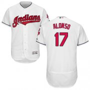 Wholesale Cheap Indians #17 Yonder Alonso White Flexbase Authentic Collection Stitched MLB Jersey