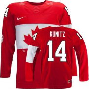 Wholesale Cheap Olympic 2014 CA. #14 Chris Kunitz Red Stitched NHL Jersey