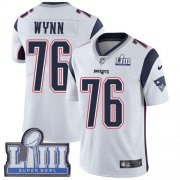 Wholesale Cheap Nike Patriots #76 Isaiah Wynn White Super Bowl LIII Bound Men's Stitched NFL Vapor Untouchable Limited Jersey