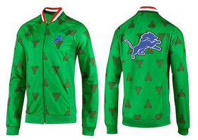 Wholesale Cheap NFL Detroit Lions Team Logo Jacket Green