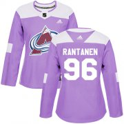 Wholesale Cheap Adidas Avalanche #96 Mikko Rantanen Purple Authentic Fights Cancer Women's Stitched NHL Jersey