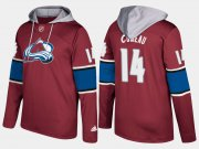 Wholesale Cheap Avalanche #14 Blake Comeau Burgundy Name And Number Hoodie