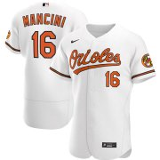 Wholesale Cheap Baltimore Orioles #16 Trey Mancini Men's Nike White Home 2020 Authentic Player MLB Jersey