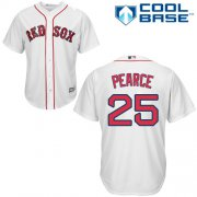 Wholesale Cheap Red Sox #25 Steve Pearce White Cool Base Stitched Youth MLB Jersey