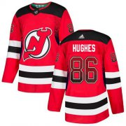 Wholesale Cheap Adidas Devils #86 Jack Hughes Red Home Authentic Drift Fashion Stitched NHL Jersey