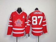 Wholesale Cheap Team Canada #87 Sidney Crosby Red Embroidered Youth NHL Jersey