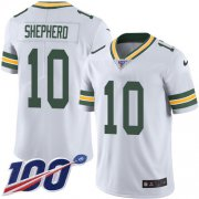 Wholesale Cheap Nike Packers #10 Darrius Shepherd White Men's Stitched NFL 100th Season Vapor Untouchable Limited Jersey