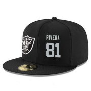 Wholesale Cheap Oakland Raiders #81 Mychal Rivera Snapback Cap NFL Player Black with Silver Number Stitched Hat