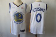 Wholesale Cheap Men's Nike Golden StateWarriors #0 DeMarcus Cousins White Nike Swingman Jersey