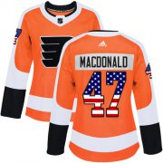 Wholesale Cheap Adidas Flyers #47 Andrew MacDonald Orange Home Authentic USA Flag Women's Stitched NHL Jersey